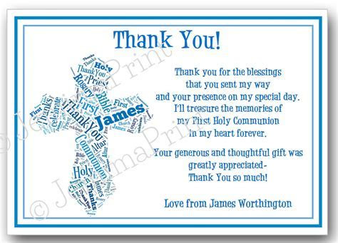 First Holy Communion/Confirmation Thank You Word Art