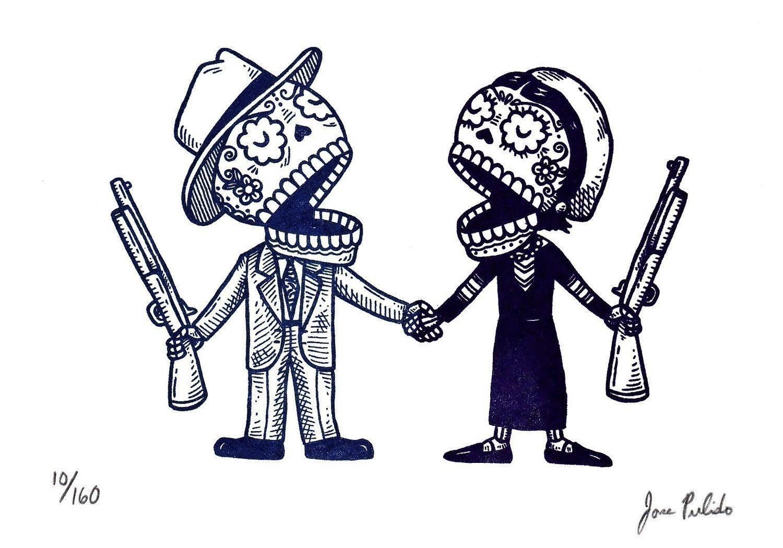 Bonnie And Clyde Tattoo Ideas Tattoo Anggur Kolesom