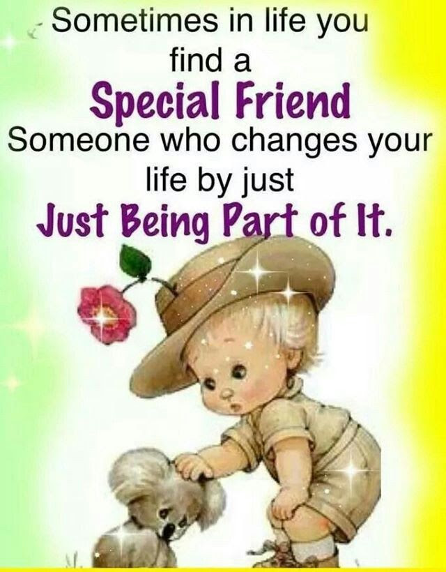 Sometimes In Life You Find A Special Friend Someone Who Changes