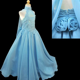 girl national glitz pageant bridal formal long dress aqua