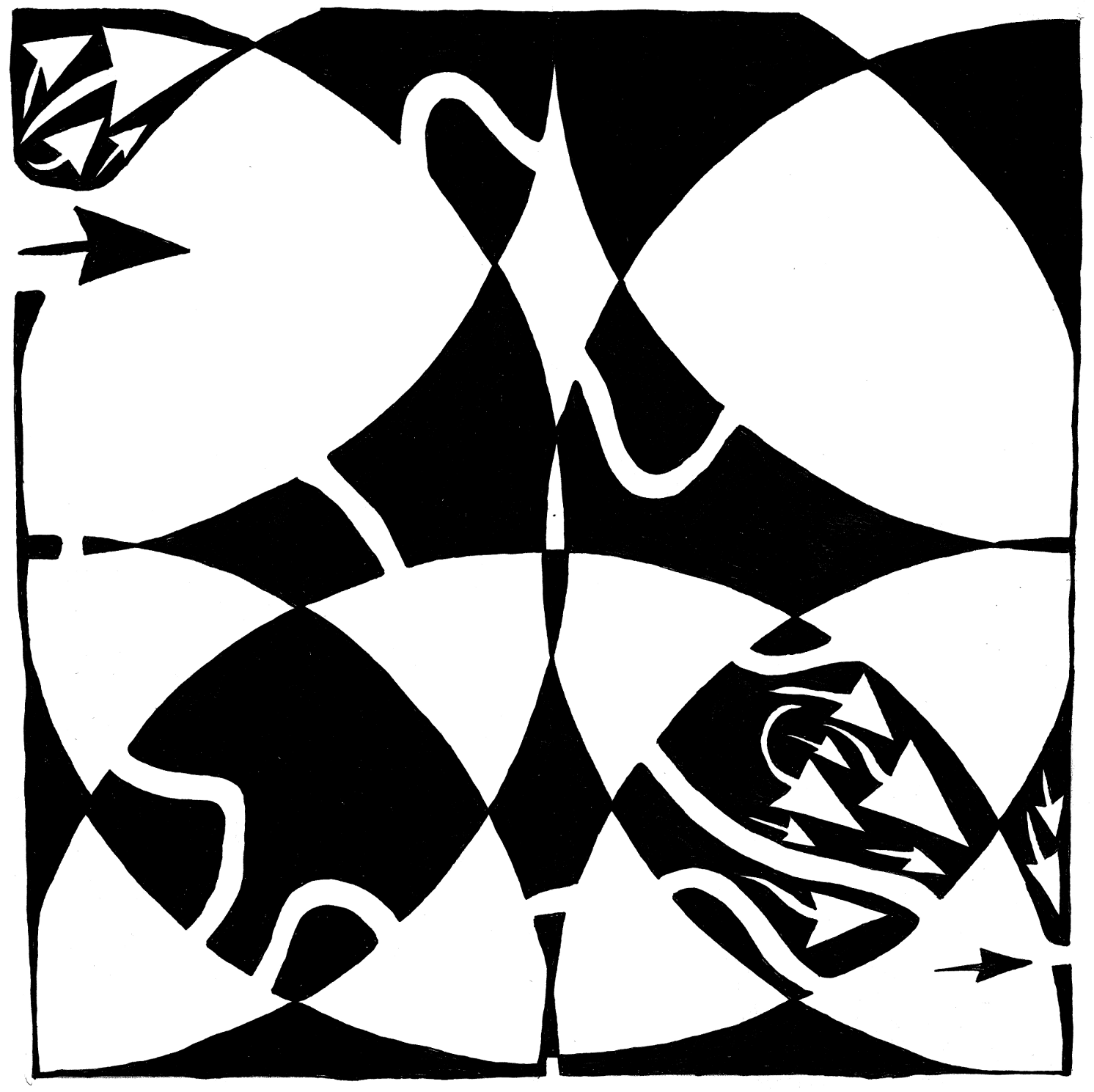 Rorschach maze art by Yonatan Frimer