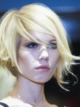 Asymmetric  Bob  Haircut Fine Hairstyles 2011