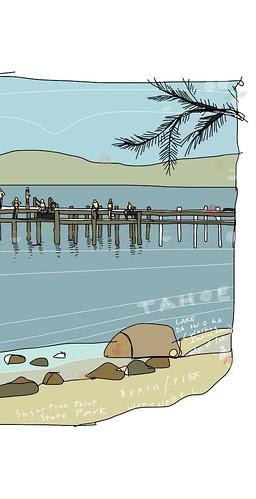 Lake Da ow a ga, Lake Tahoe,  by douglaswittnebel