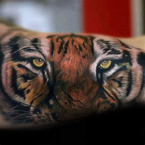 tiger eyes tattoo designs  men realistic animal