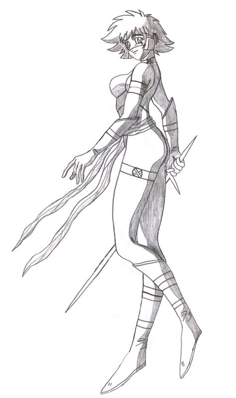 spirit full body pose uncolored  kaizer  deviantart