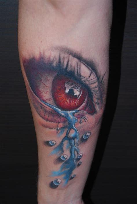 eye tattoos forearm
