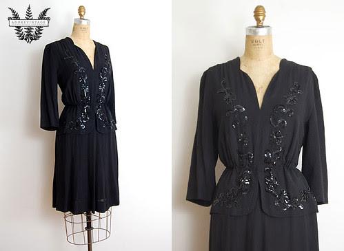 Vintage 1940s Dress from Adorevintage.com