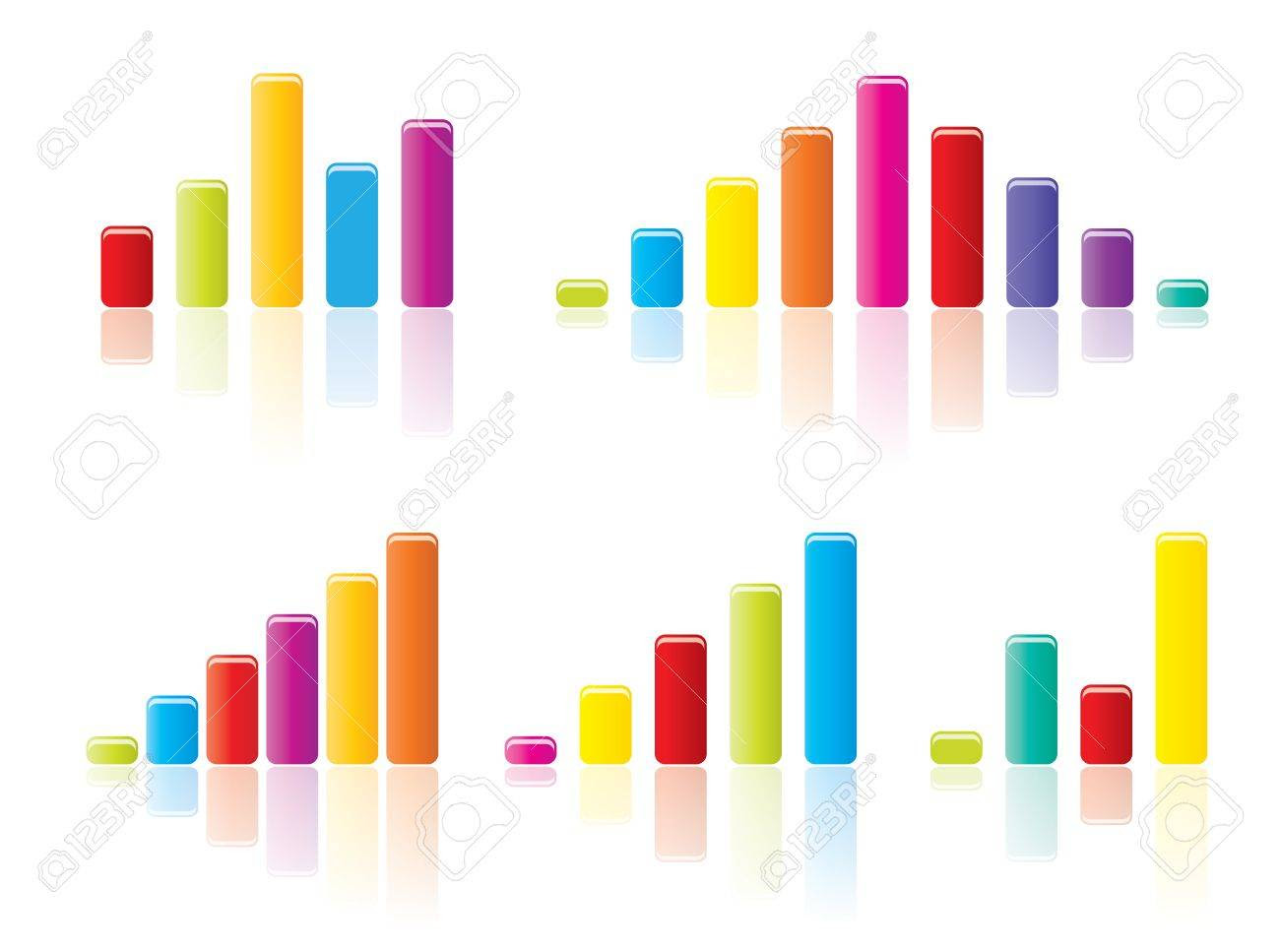Colourful Graph Concepts In Editable Vector Format. Royalty Free ...