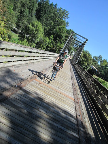 Kevin on the bridge in Mill City
