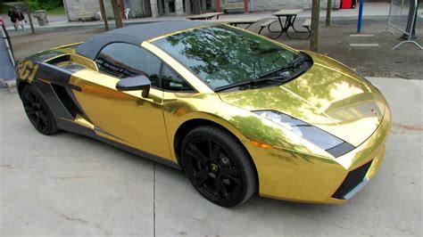 2009 Lamborghini Gallardo Gold Wrap by G1 Tour   Peel