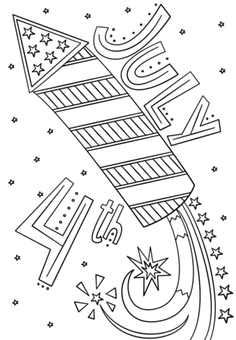 fourth of july fireworks doodle coloring page  free printable coloring pages