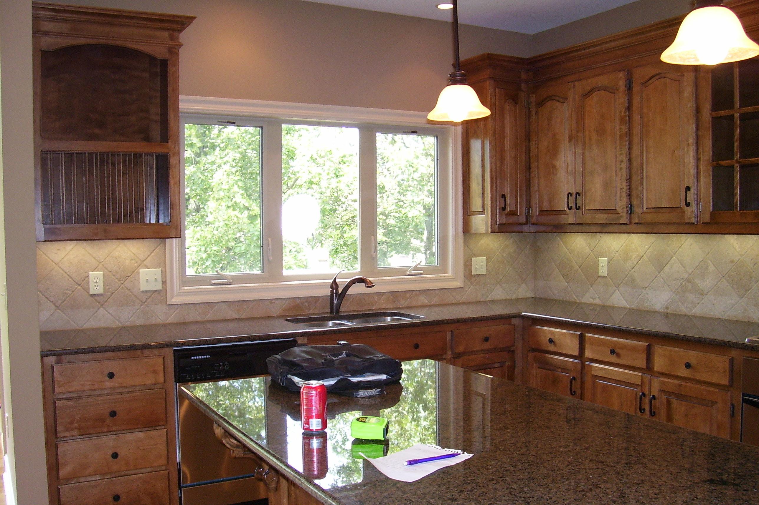 Alder Cabinets With Granite Countertops