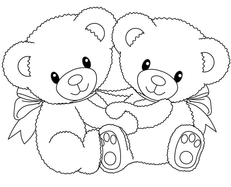 Teddy Bear Holding A Heart Drawing At Getdrawingscom Free For