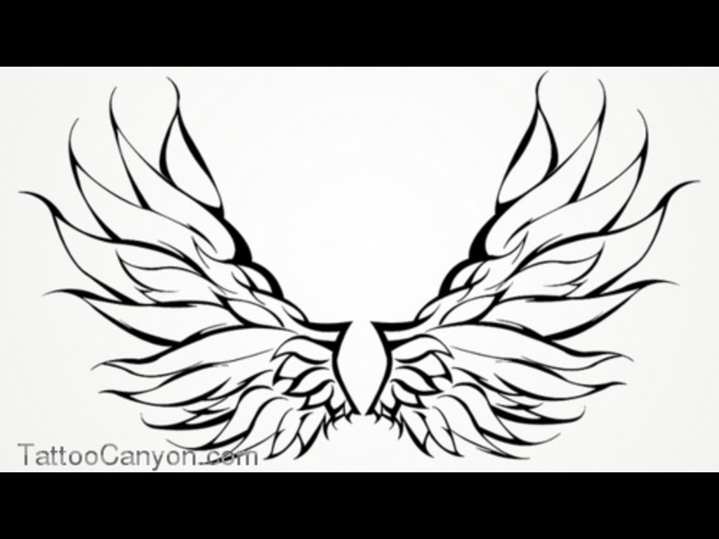 Wing Tattoo Drawing At Getdrawingscom Free For Personal Use Wing