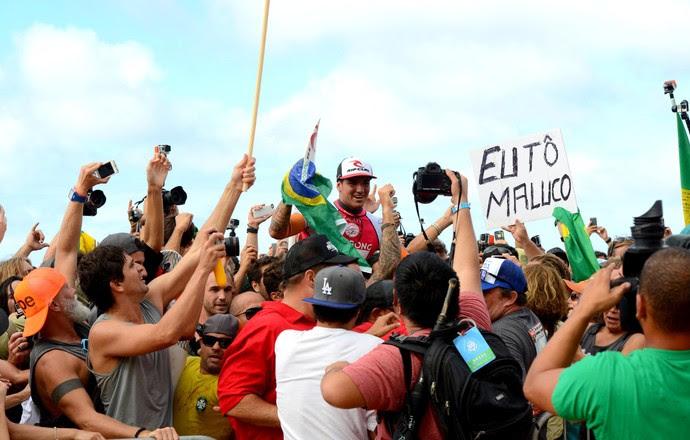 Gabriel Medina, comemoração, surfe Pipeline (Foto: Pedro Gomes Photography)