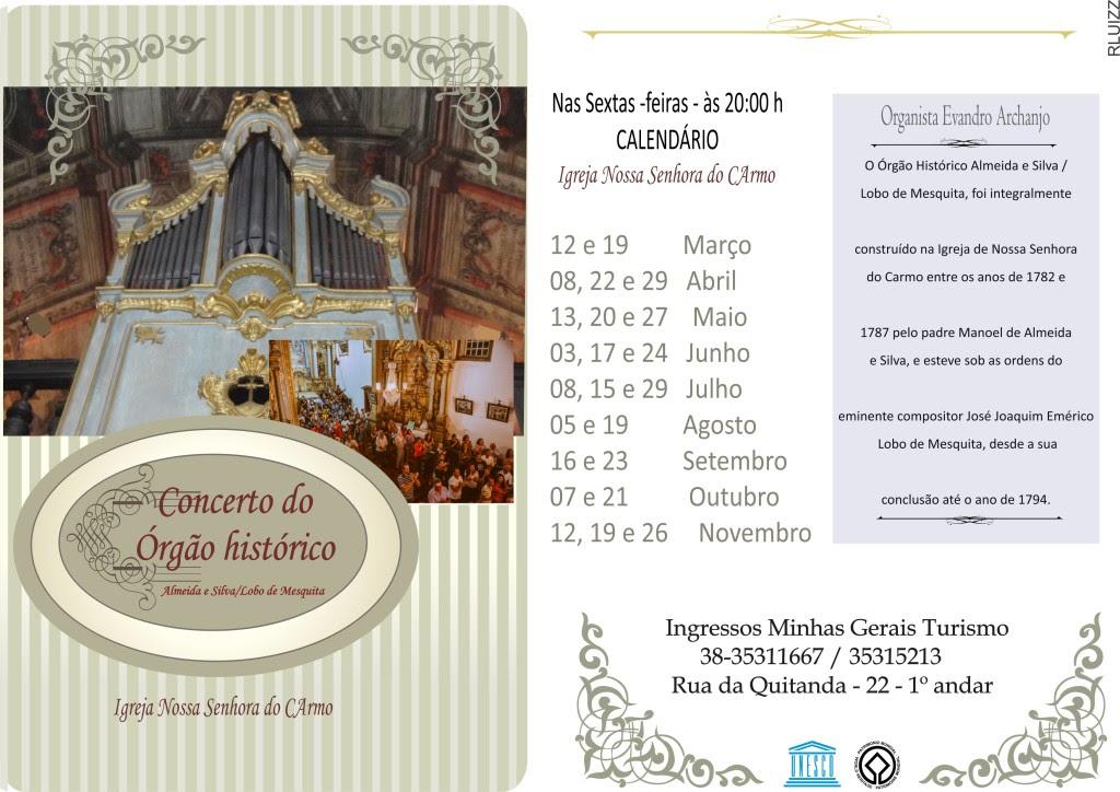 Nova Temporada do Concerto do Órgão Histórico de Diamantina