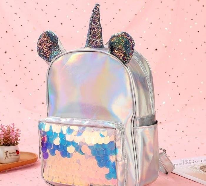harga tas hologram unicorn  tas baru