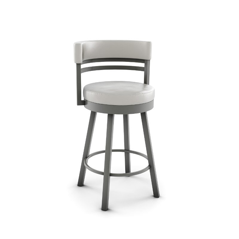 Gray 26 Inch Upholstered Swivel Counter Height Stool Ronny Rc Willey Furniture Store