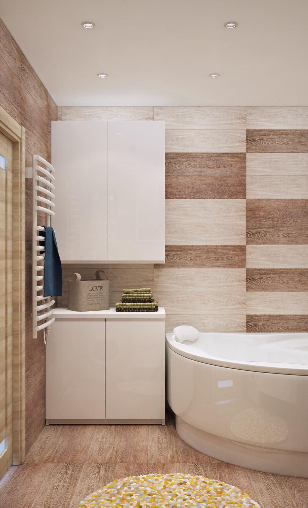 wood-tile-bathroom   Interior Design Ideas.