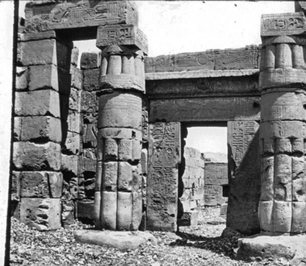 Egypt - Temple of Seti, east entrance, Thebes. (Public Domain)