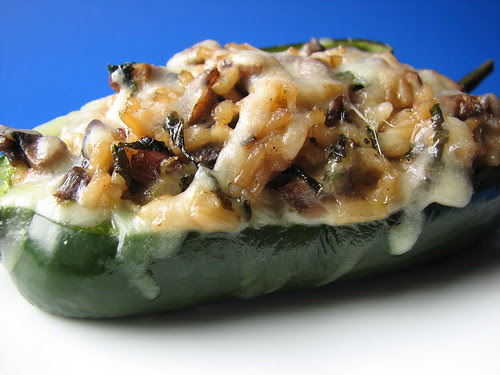 Portabello and Wild Rice Stuffed Poblano Peppers II