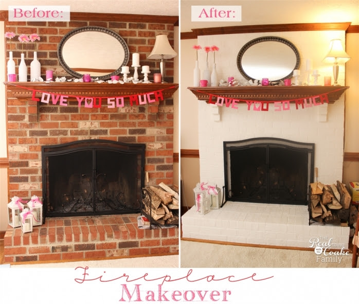 Exceptionally Easy and Dramatic Fireplace Makeover!! » The Real ...