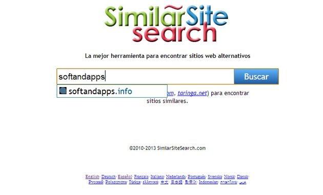 SimilarSiteSearch, un potente buscador para encontrar sitios similares
