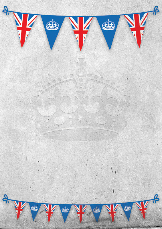 Jubilee flags poster background | Free Poster Templates ...