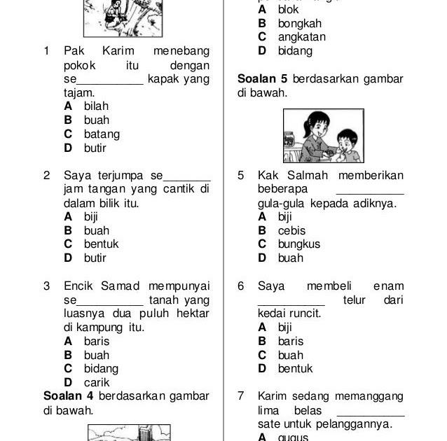 Soalan Bahasa Melayu Tahun 4 2019 Sjkc Kecemasan K