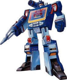 Soundwave in his original design (from the 1980's cartoon).