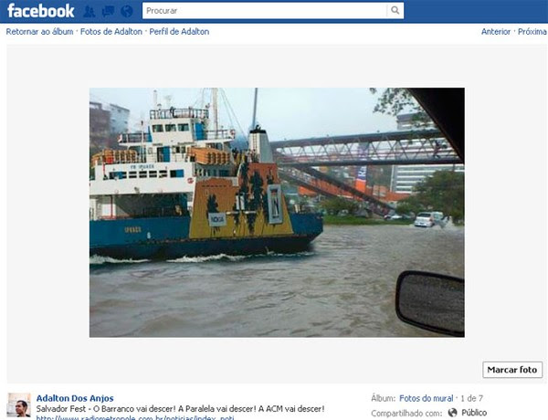 Sátira da chuva em Salvador (Foto: Reprodução/Redes Sociais)
