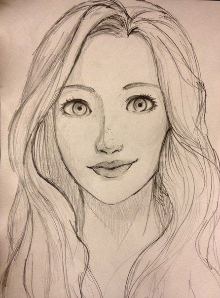 446x604 Photos Drawing Images Girl Face,