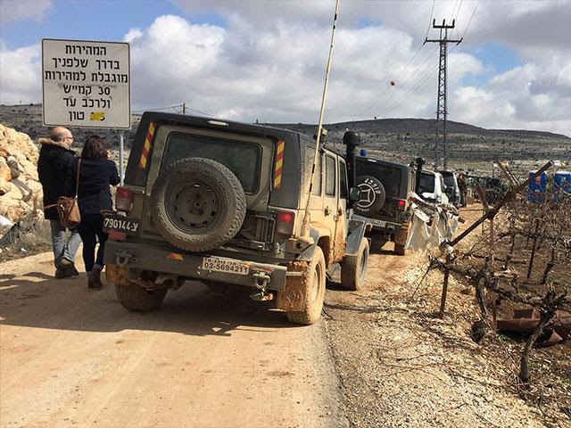 Security Forces at Amona Evacuation, CBN News image