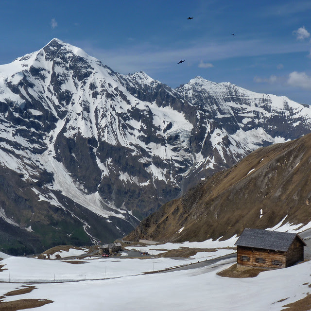 Beautiful mountain shelter at the Grossglockner mountain pass