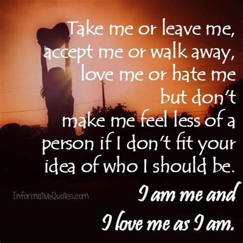 Accept Me Love Quotes