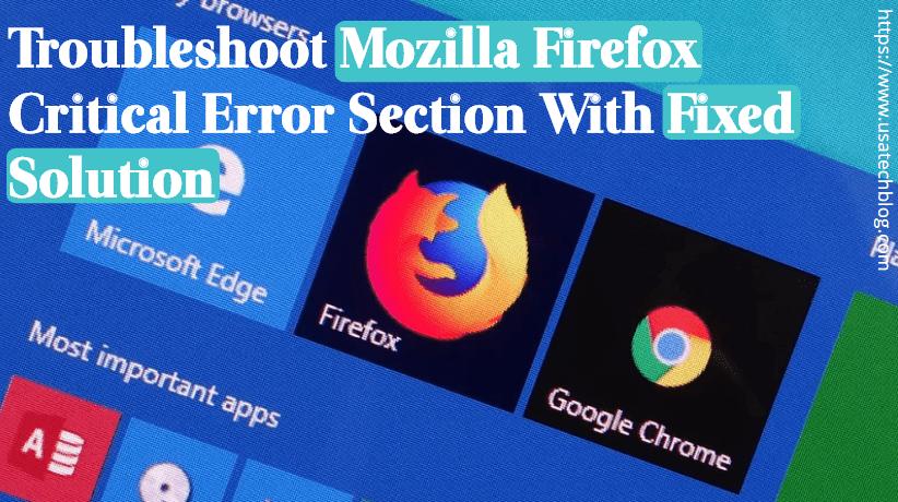 Remove Mozilla Firefox Critical Error Easily - USA TECH BLOG