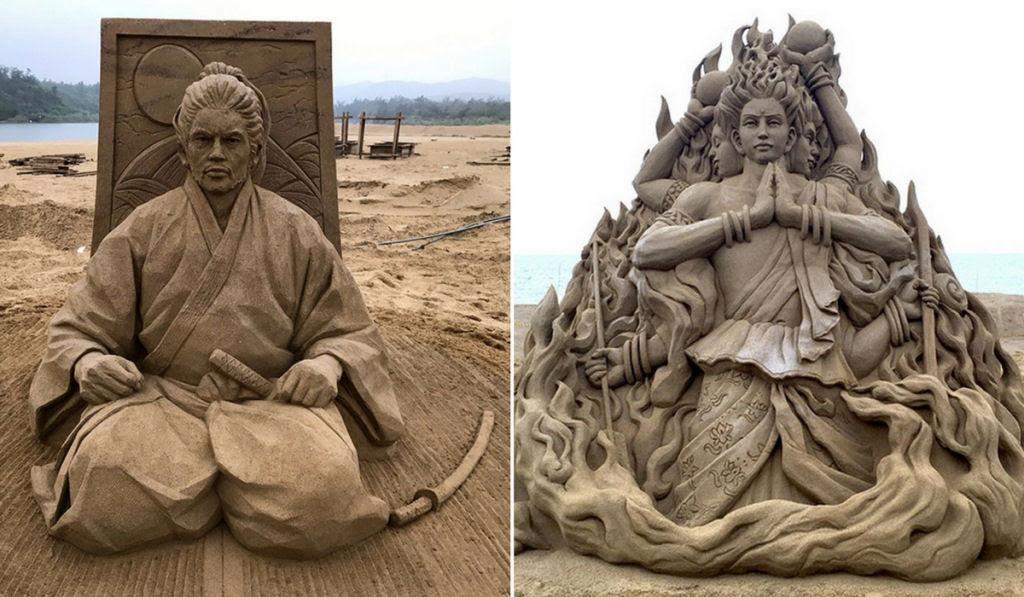 As extraordinárias esculturas de areia de Toshihiko Hosaka 01