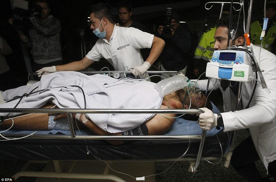 Emergência: Alan Ruschel disse ter sofrido ferimentos na cabeça no acidente nas montanhas da Colômbia remotos