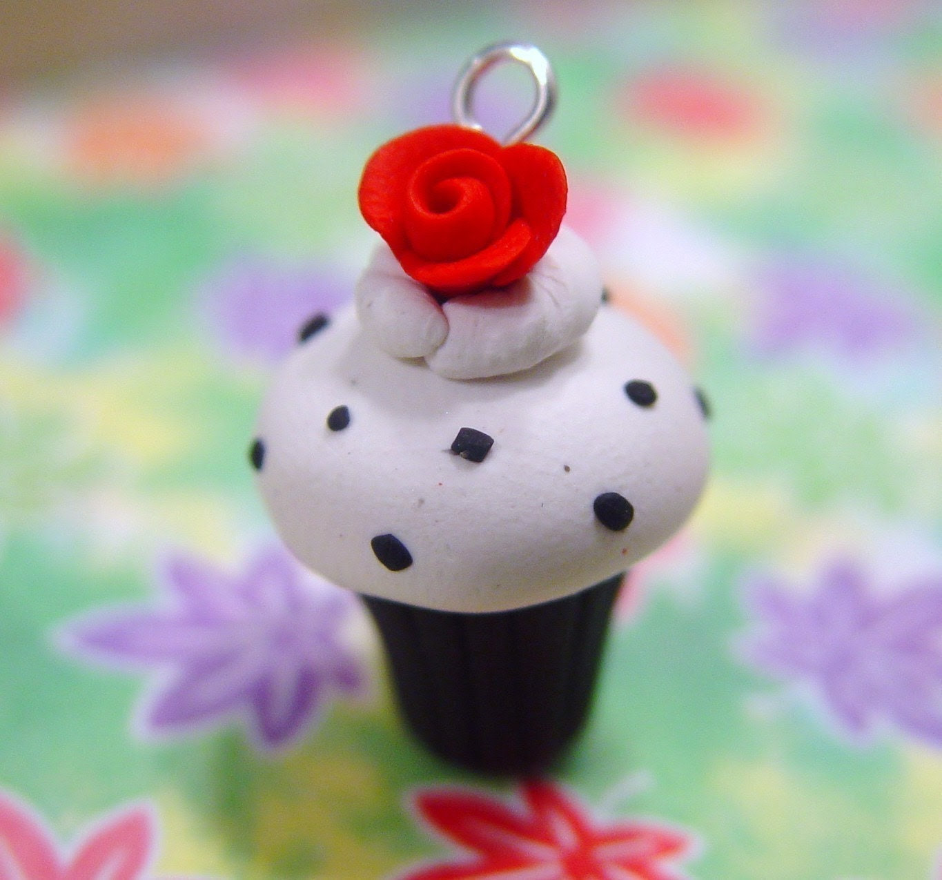 Top Star Movies: Cupcake Charm Or Pendant. Polymer Clay