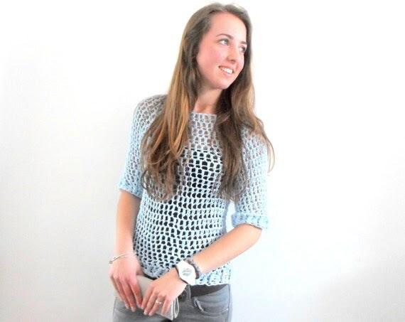 Fast & Easy Fashion Sweater crochet pdf pattern INSTANT DOWNLOAD
