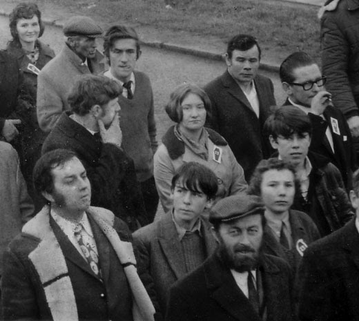 Taking part in a massive civil rights parade following Bloody Sunday.
