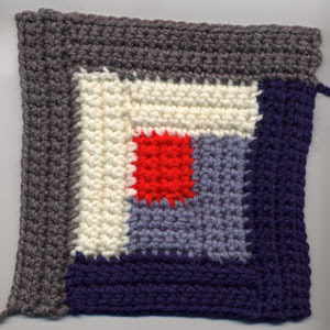 Crochet Log Cabin Square