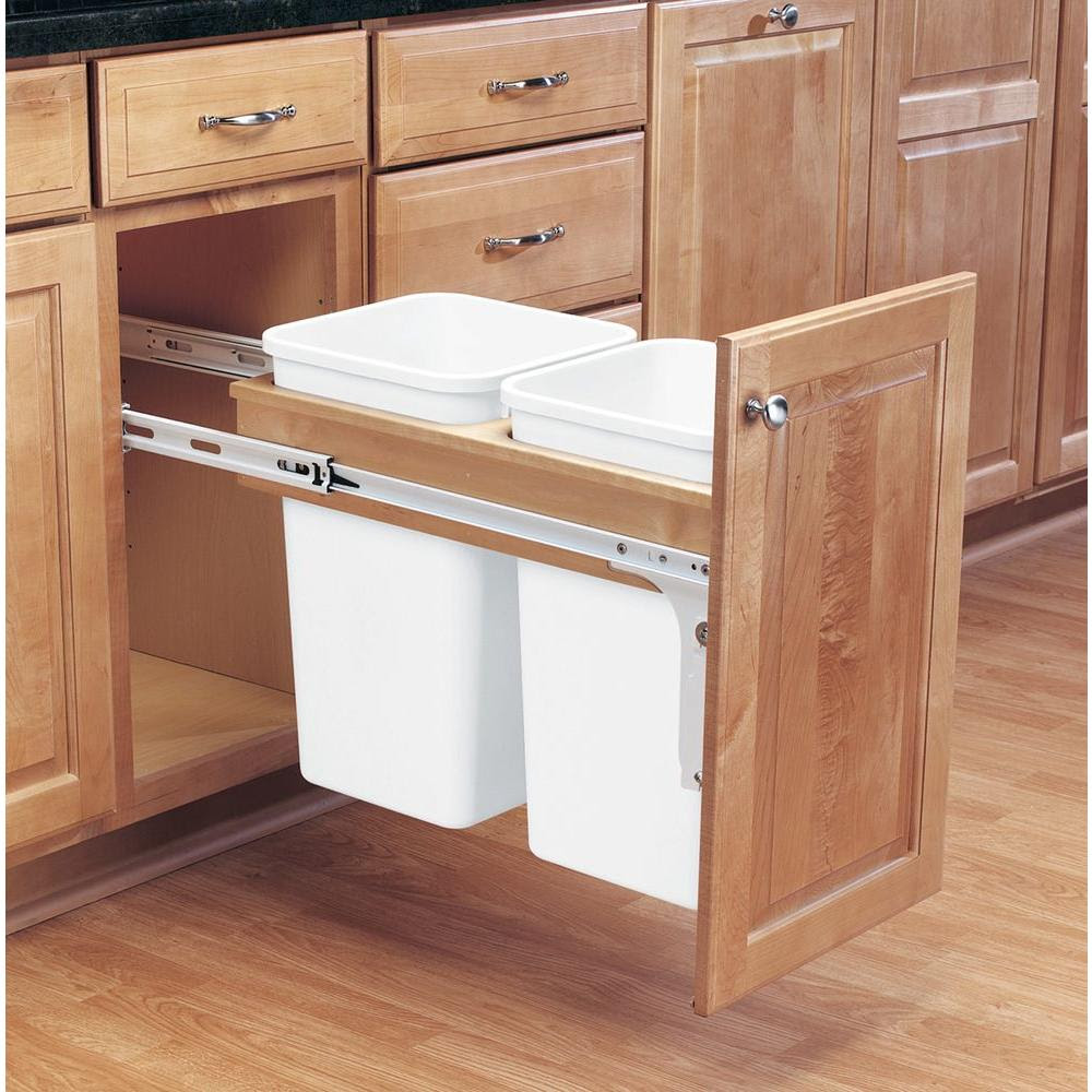 Pull Out Trash Cans - Kitchen Cabinet Organizers - The ...