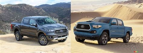 comparison  ford ranger   toyota tacoma car