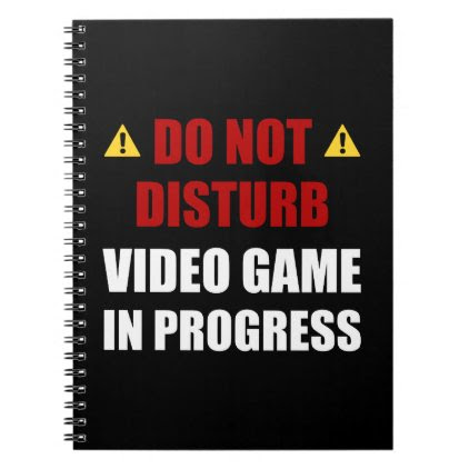 Do Not Disturb Video Game Notebook