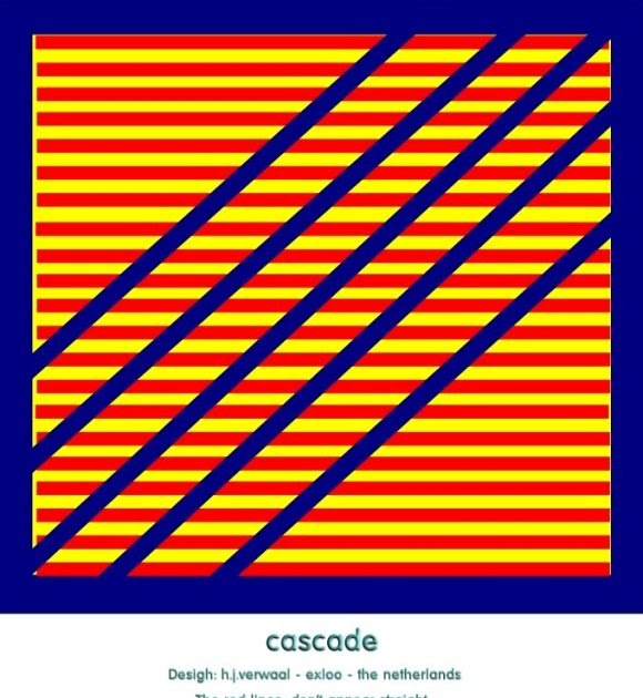 Line Optical Designory : Optical illusions etc cascading lines illusion