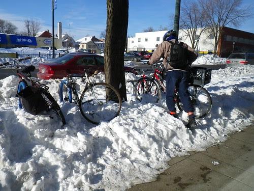 Winter Bike Parking