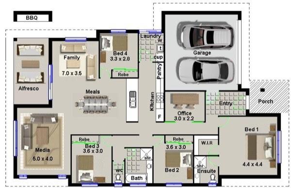 7 modelos de plantas de casas
