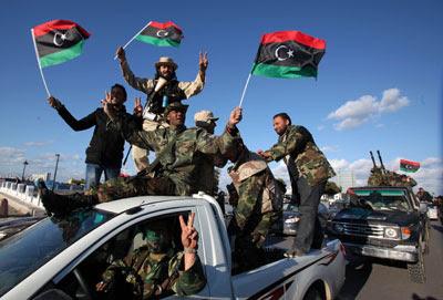 Milicianos libios.