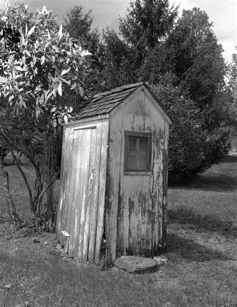 Black White Rustic Bathroom Decor Vintage Outhouse Country
